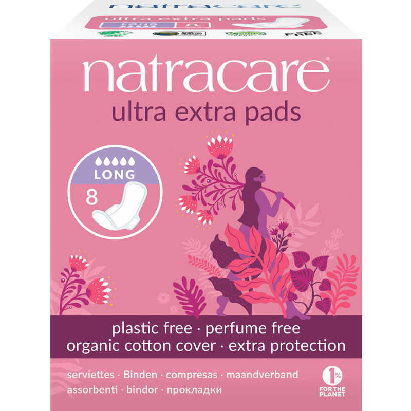 Natracare Ultra Extra Pads - Long - 8's