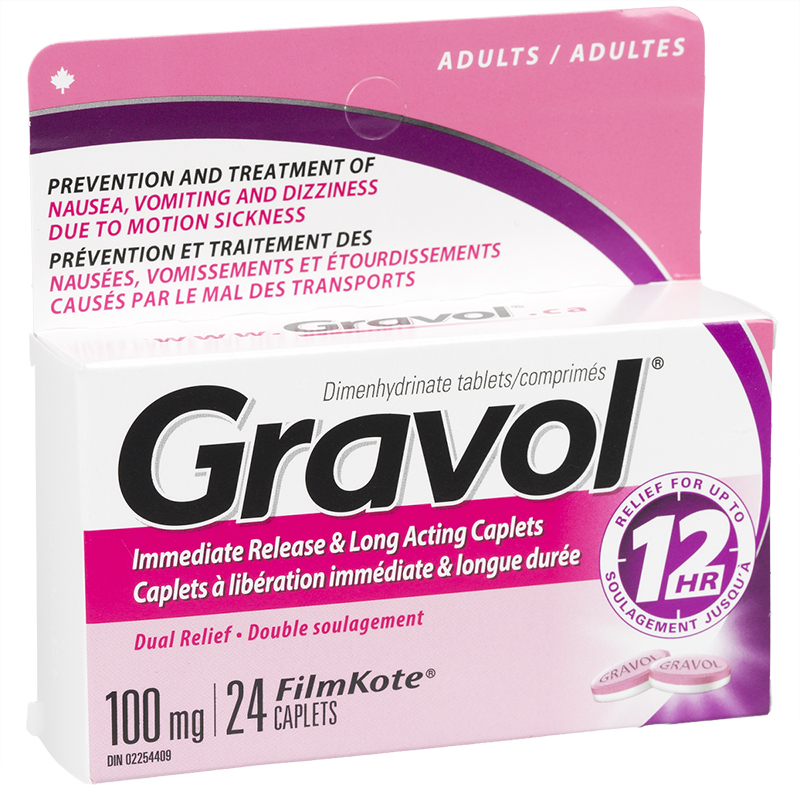 Gravol Dual Relief Long Acting Caplets - 24's