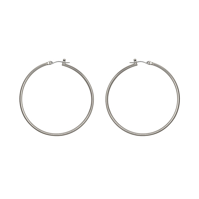 Nine West Large Basic Hoop Earrings