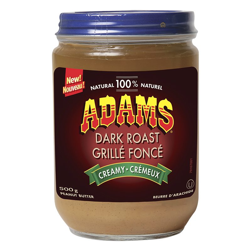 Adams Dark Roast Peanut Butter - Creamy - 500g