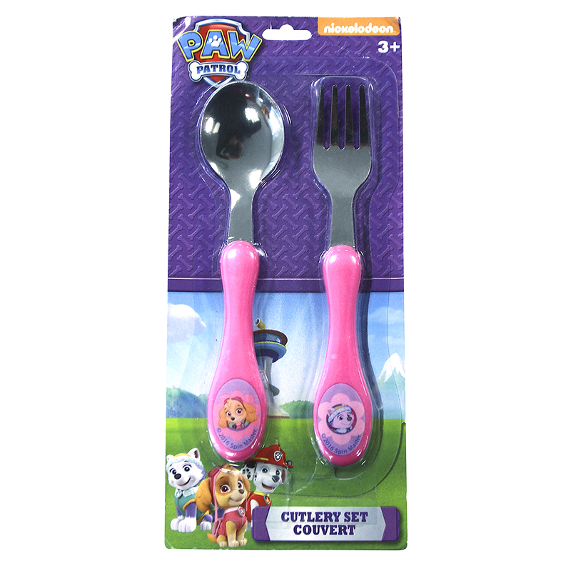 Paw Patrol Metal Cutlery - 2 piece - Assorted