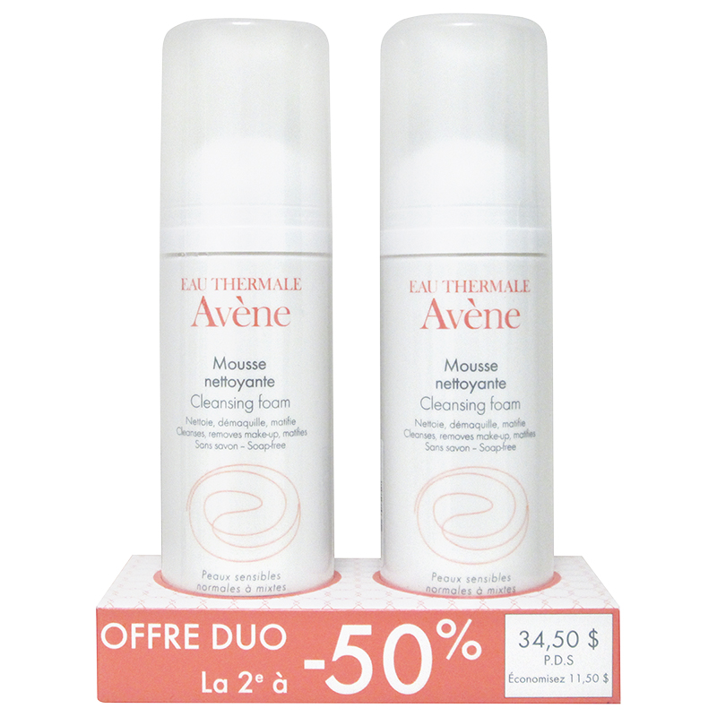 Avene Duo Cleansing Foam - 2x150ml