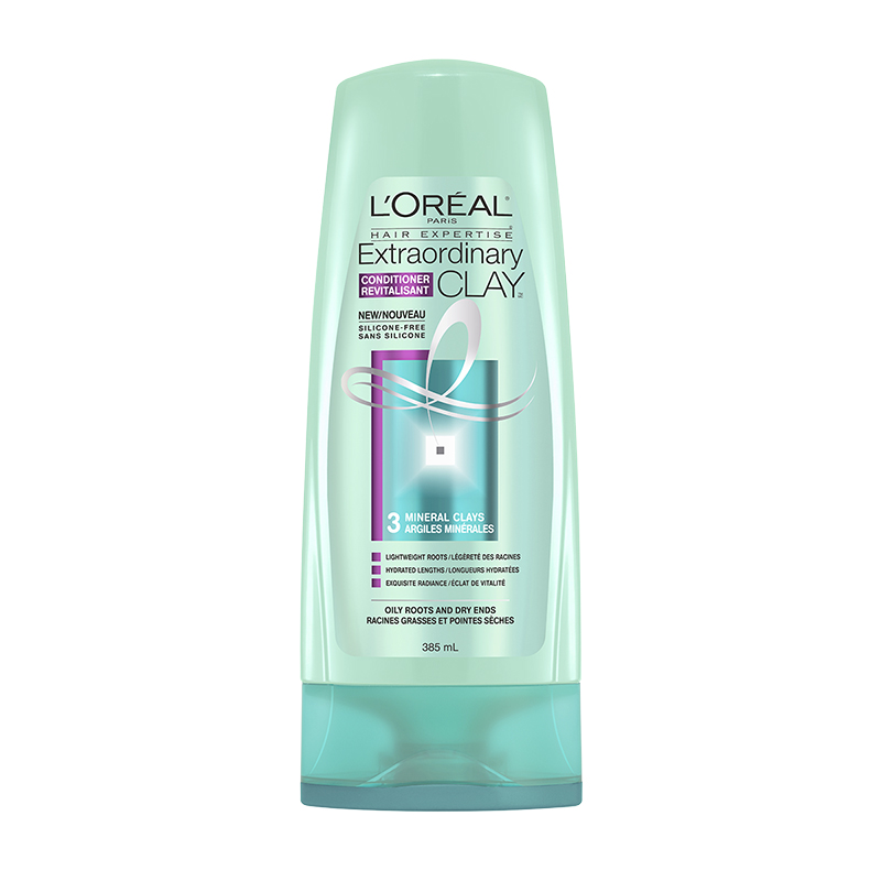L'Oreal Extraordinary Clay Conditioner - Oily Roots & Dry Ends - 385ml