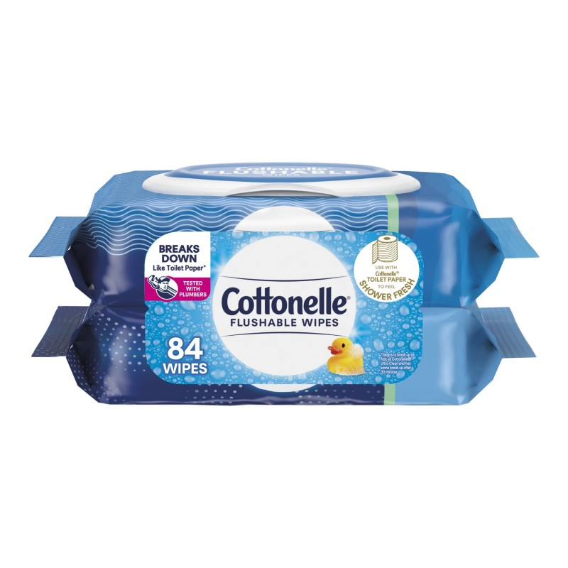 Cottonelle Fresh Care Flushable Cleansing Cloths - 2 x 42's