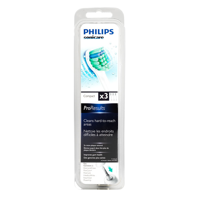 Philips Sonicare ProResults Replacement Compact Heads - 3's