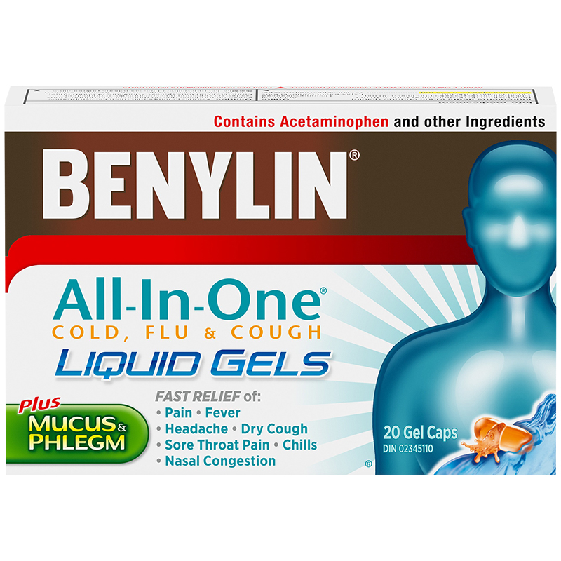 Benylin All-in-One Cold & Flu Liquid Gels - 20's