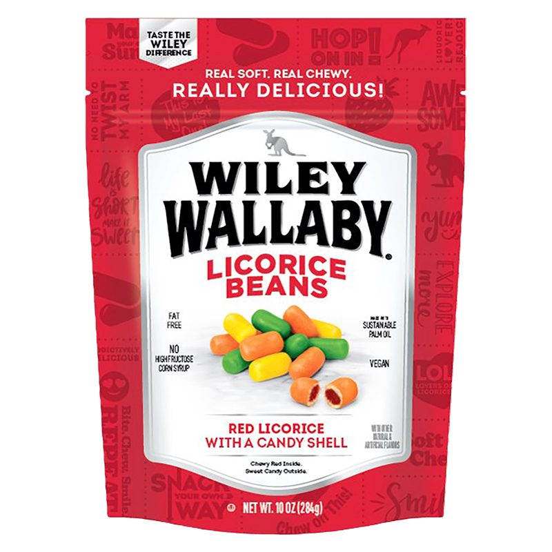 Wiley Wallaby Outback Beans Candy - Red - 283g