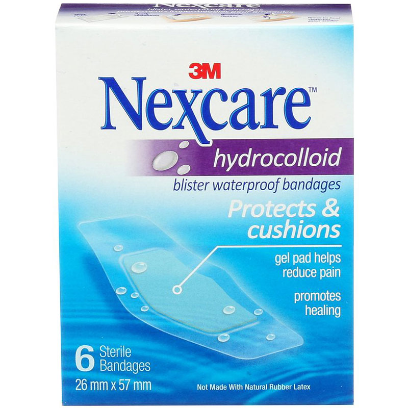 3M Nexcare Hydrocolloid Blister Waterproof Bandages - 6's