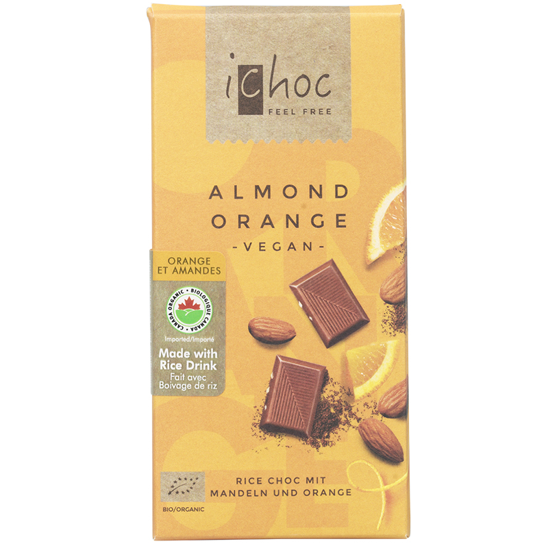 iChoc Chocolate Bar - Almond Orange - 80g