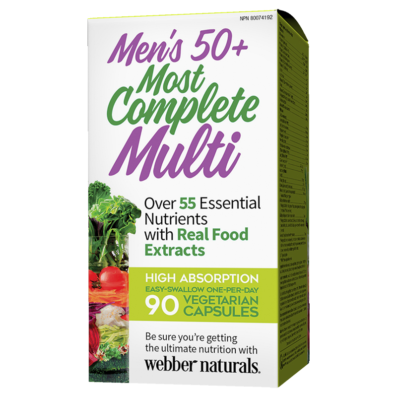 Webber Naturals Men's 50+ Most Complete Multi - 90's