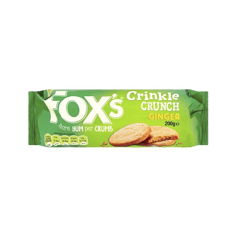 Fox's Crinkle Crunch Biscuit - Ginger - 200g