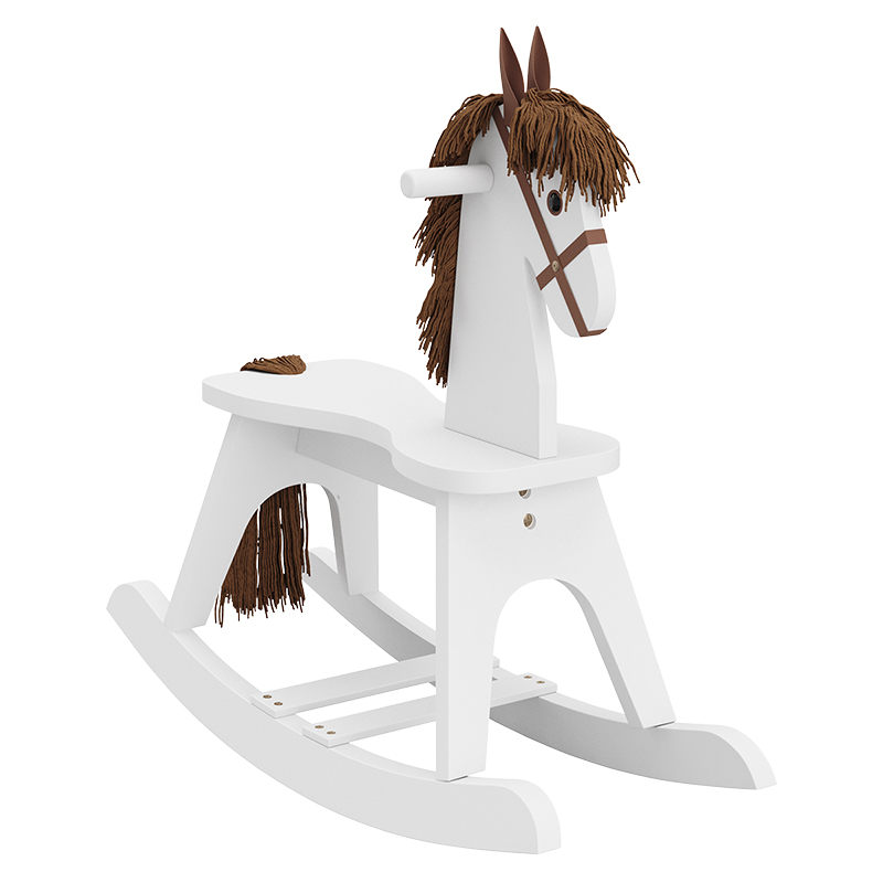 Storkcraft Wooden Rocking Horse - White - 06541-001