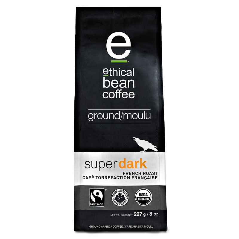 Ethical Bean - Super Dark French Roast - Ground Coffee - 227g