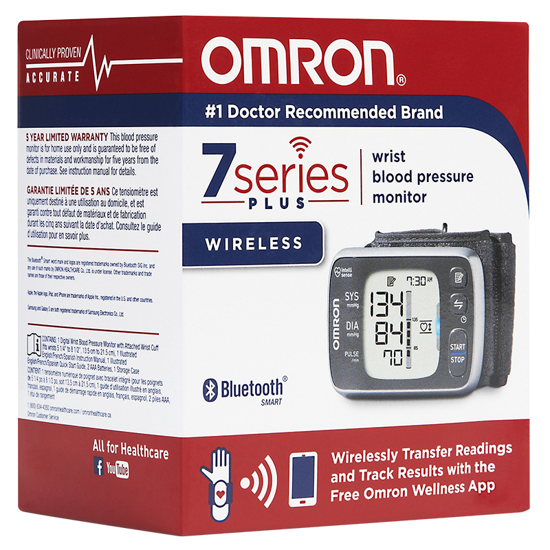 Omron7 Series Plus Wireless Wrist Blood Pressure Monitor - BP654