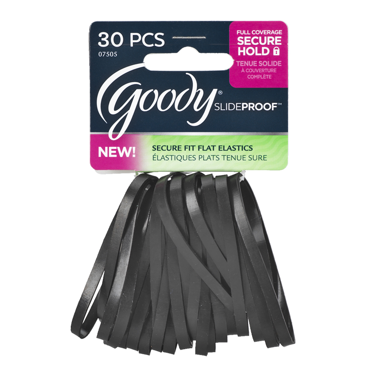 Goody SlideProof Flat Elastics - Black - 30 s  73a78c05ab4