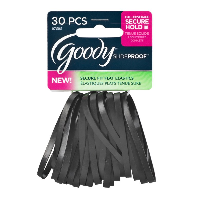 Goody SlideProof Flat Elastics - Black - 30's