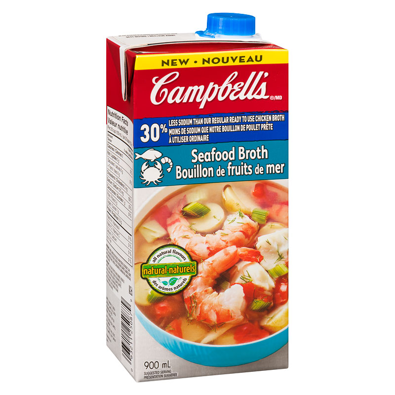 Campbell's Seafood Broth - Sodium Reduced - 900ml