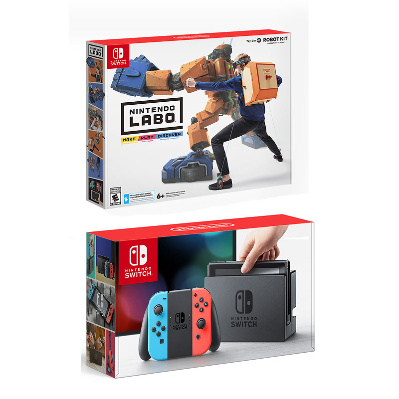 Nintendo Switch Red/Blue with Nintendo Labo Robot Kit - PKG #13776