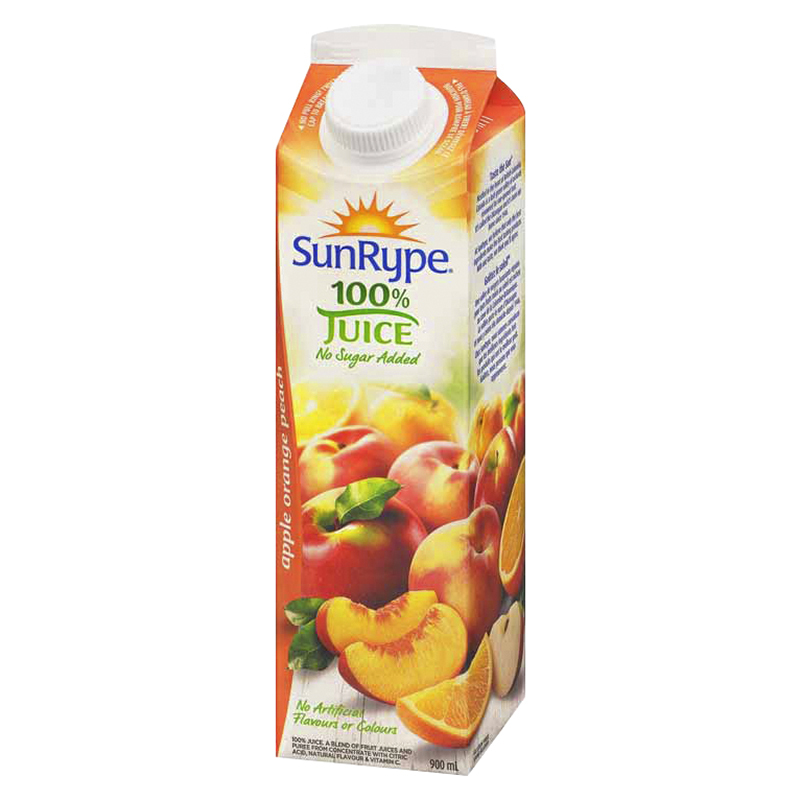 SunRype Fruit Juice - Apple Orange Peach - 900ml