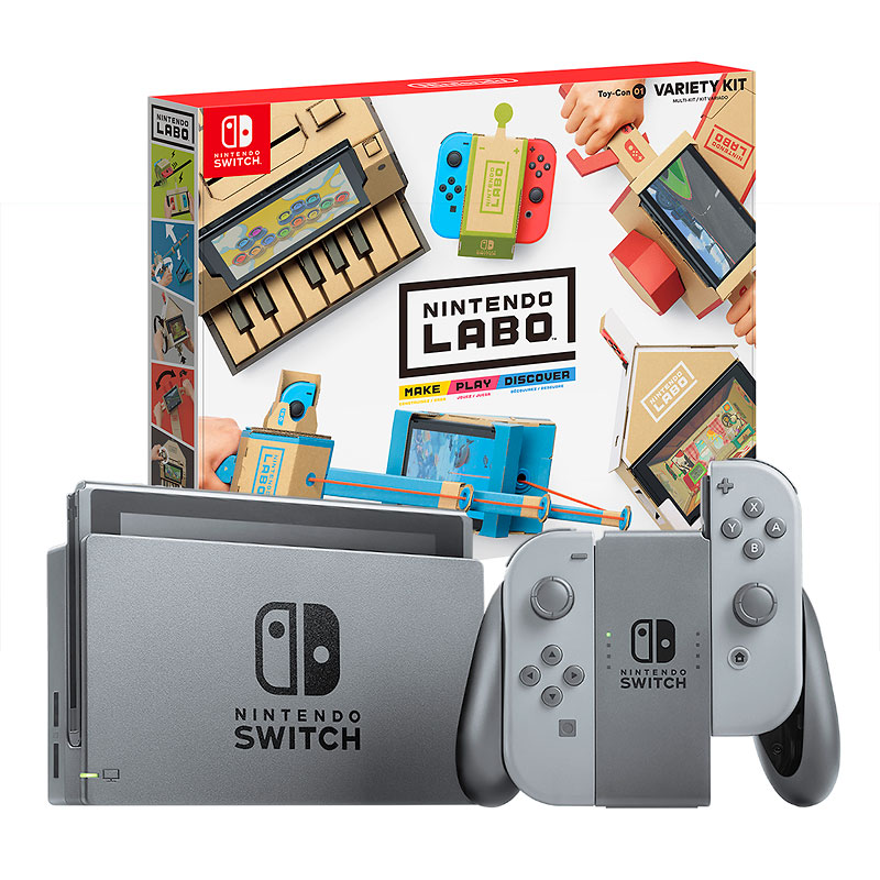 Nintendo Switch Gray with Nintendo Labo Variety Kit - PKG #13775