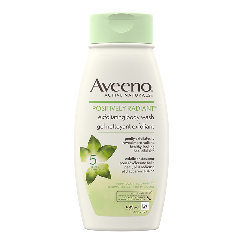 Aveeno Active Naturals Positively Radiant Exfoliating Body Wash - 532ml