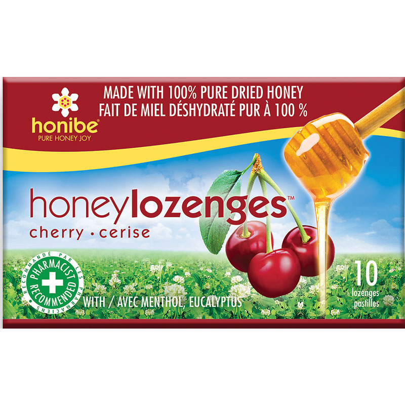 Honibe Honey Lozenges Wild Cherry - 10's