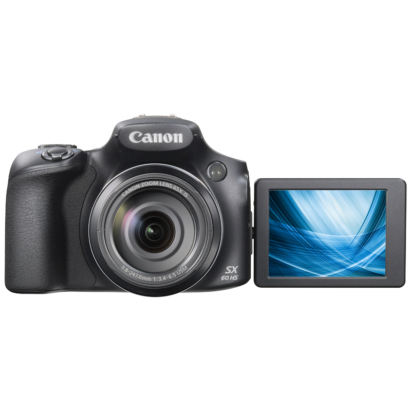 Canon PowerShot SX60 HS Digital Camera - Black
