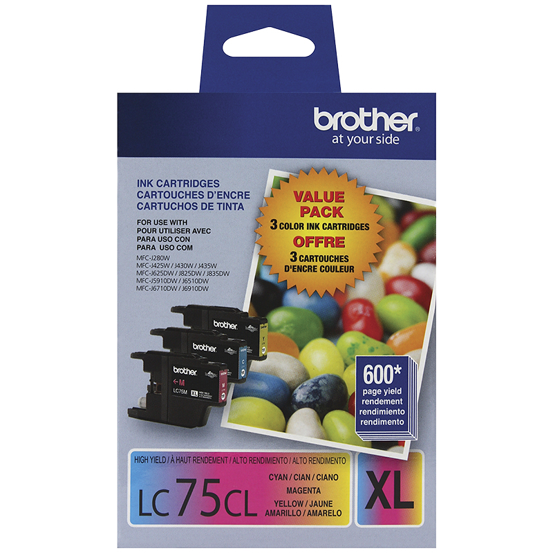 Brother LC753PKS High Yield Ink Cartridges - Multi - 3 pack