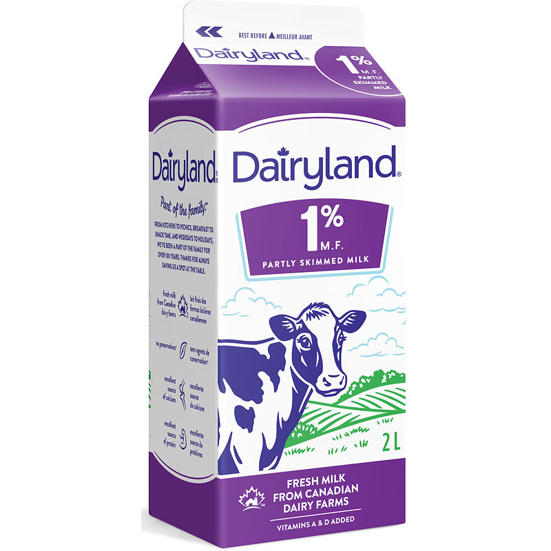 Dairyland 1% Milk - 2L