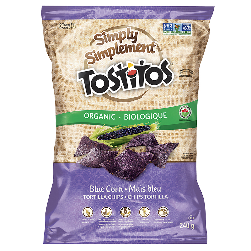 Simply Tostitos Organic Tortilla Chips - Blue Corn - 240g