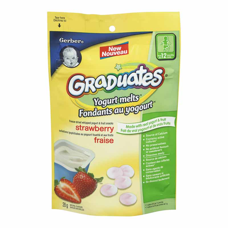Gerber Graduates Yogurt Melts - Strawberry - 28g