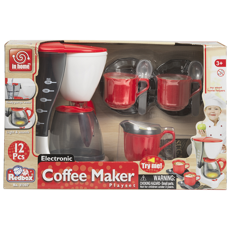 Red Box Electronic Coffee Maker Play Set - 12 pieces