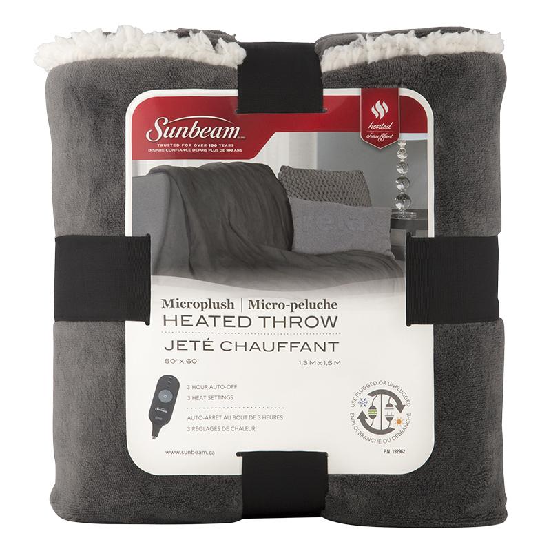 Sunbeam Microplush Heated Throw London Drugs Custom Rechargeable Heated Throw Blanket