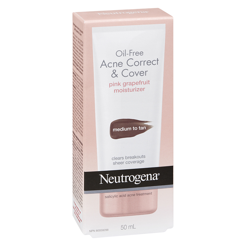 Neutrogena Acne Cover & Correct Pink Grapefruit - Medium to Tan - 50ml