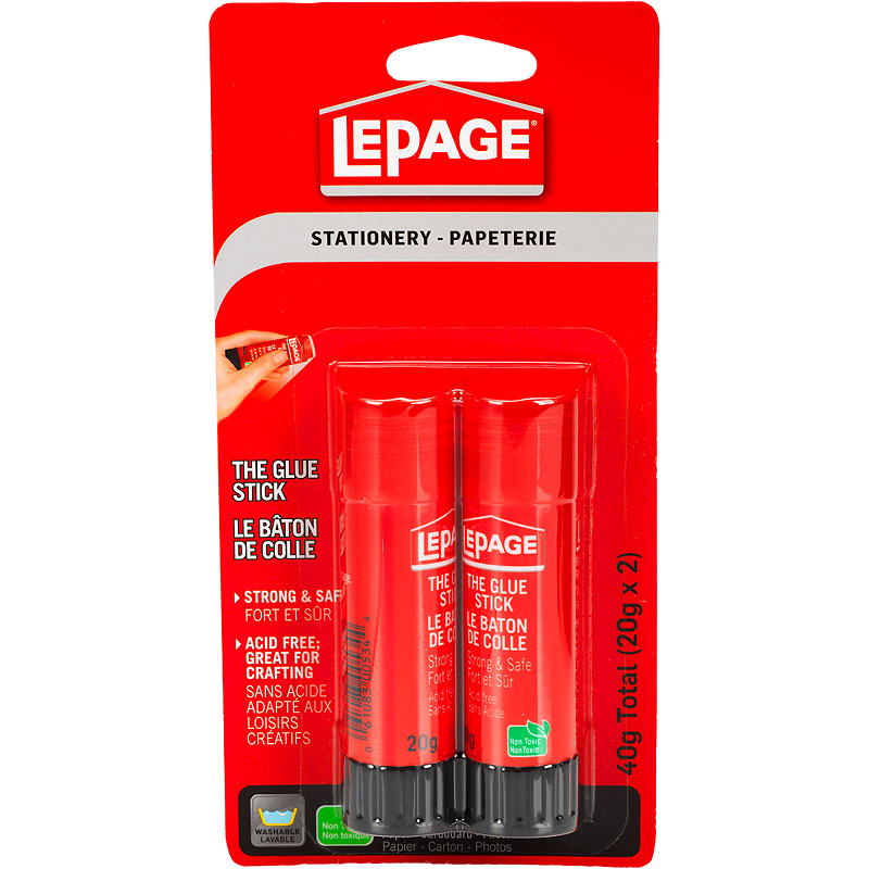 LePage Stationary The Glue Stick - 2 x 20g
