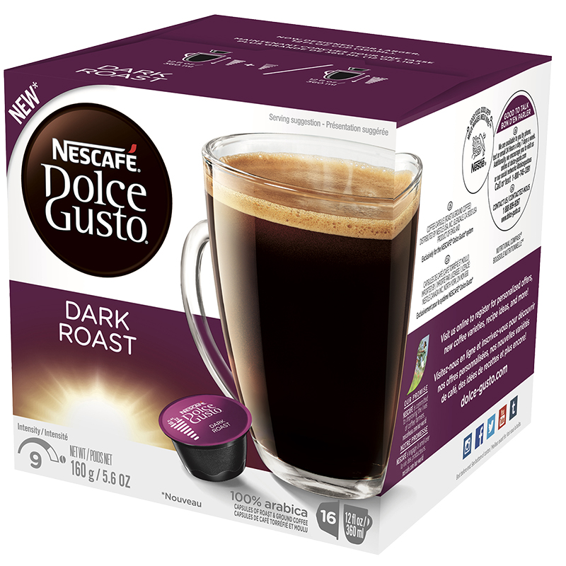 Nescafe Dolce Gusto Coffee Pods - Dark Roast - 16's