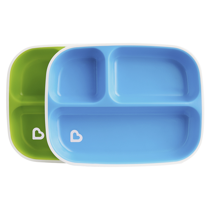Munchkin Splash Divided Plates - 2 pack - Assorted