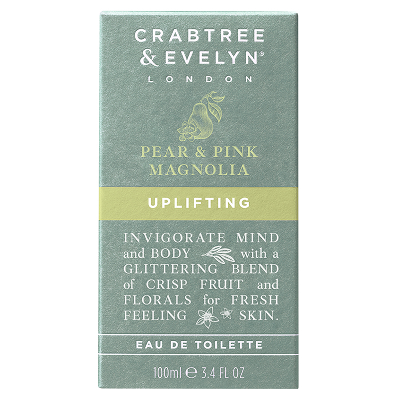 Crabtree & Evelyn Pear and Pink Magnolia Uplifting Eau de Toilette - 100ml