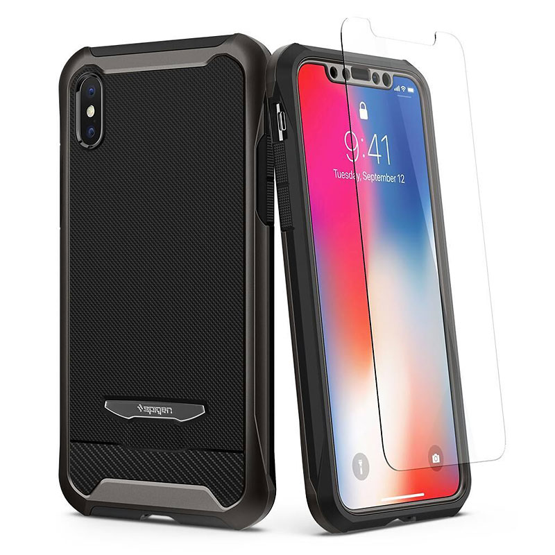 Spigen Reventon Case for iPhone X - Gunmetal - SGP057CS22178