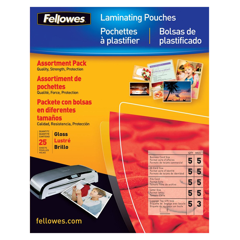 Fellowes Laminating Pouch Starter Kit - 25 pack