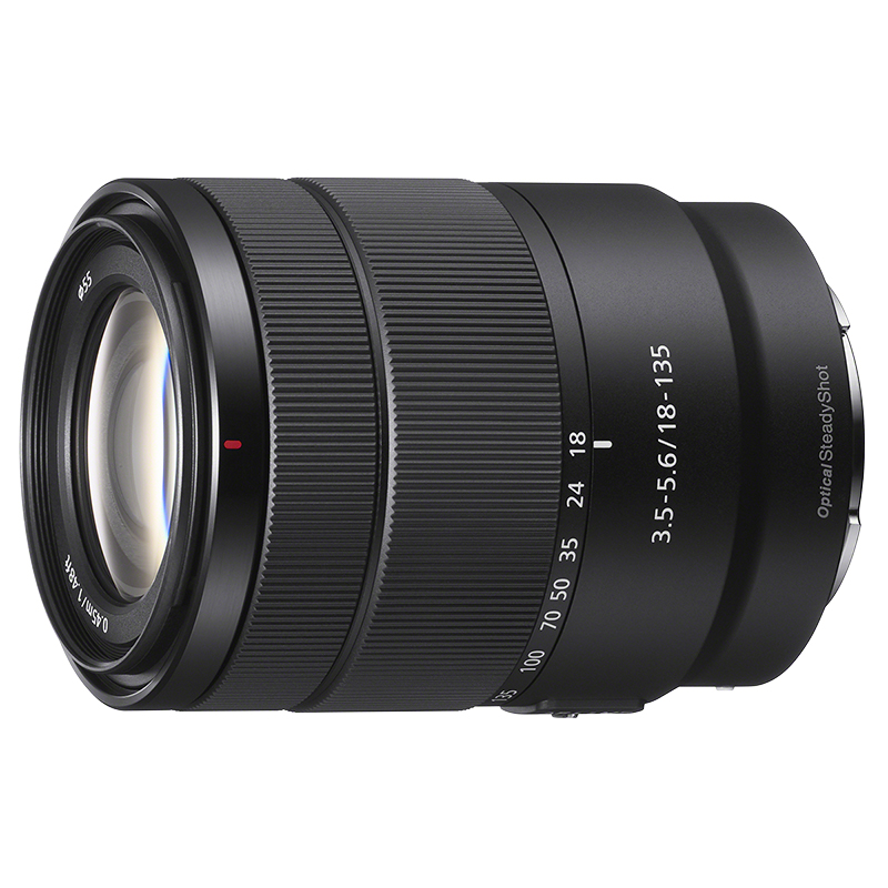 Sony E 18-135mm F3.5-5.6 OSS Lens - Black - SEL18135