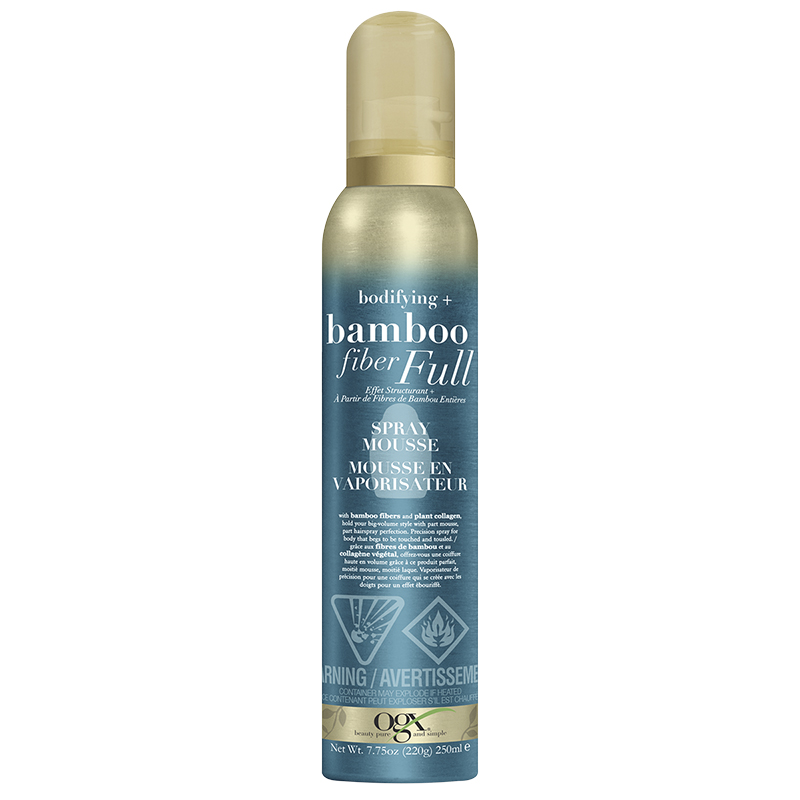 OGX Bamboo Fiber Full Spray Mousse - 250ml