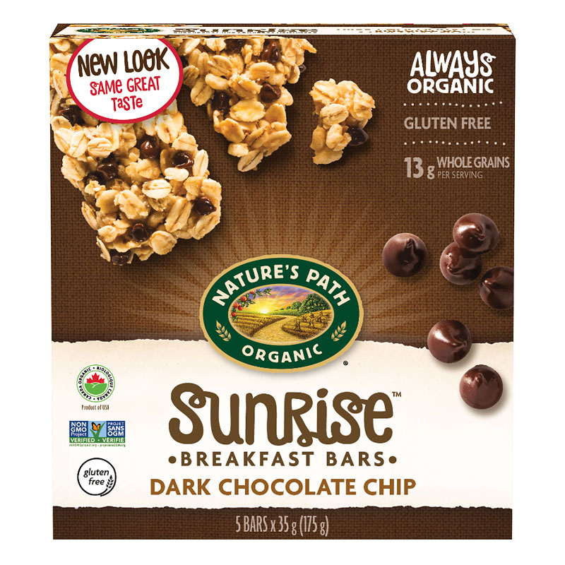 Nature's Path Organic Chewy Granola Bars - Dark Chocolate Chip - 175g