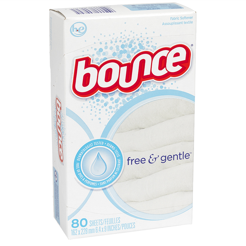 Bounce Fabric Softener Sheets - Free & Gentle - 80's