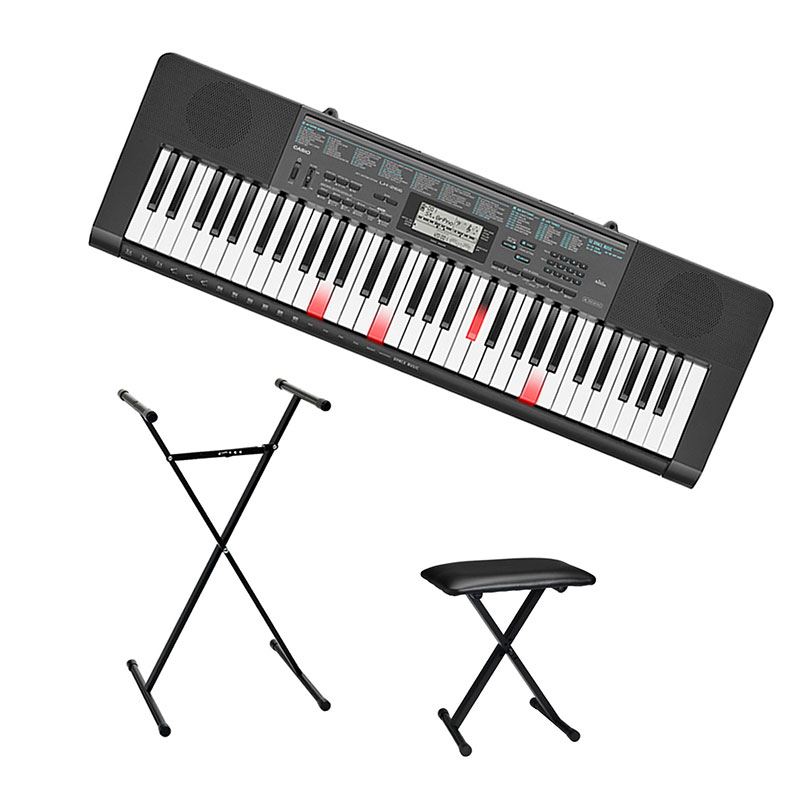 Casio 61-Key Keyboard + Casio Keyboard Bench + Casio Keyboard Stand - PKG #56320