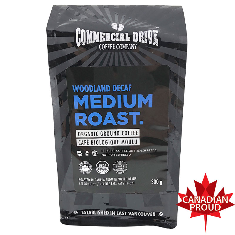 Commercial Drive Coffee - Woodland Decaf Medium - Ground - 300g