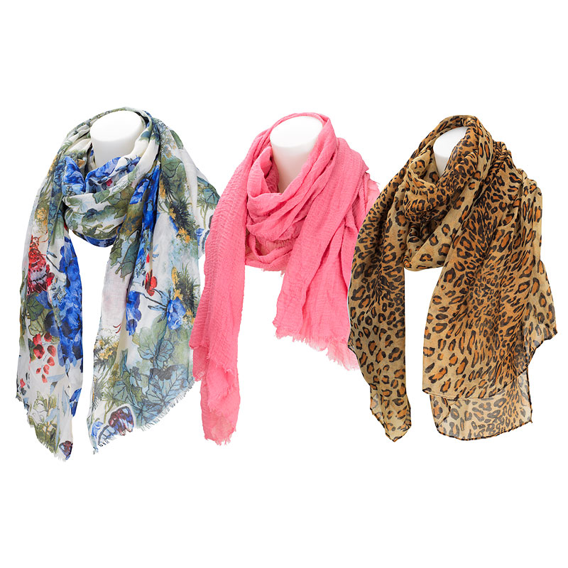 Star & Rose Fun Scarf - Assorted