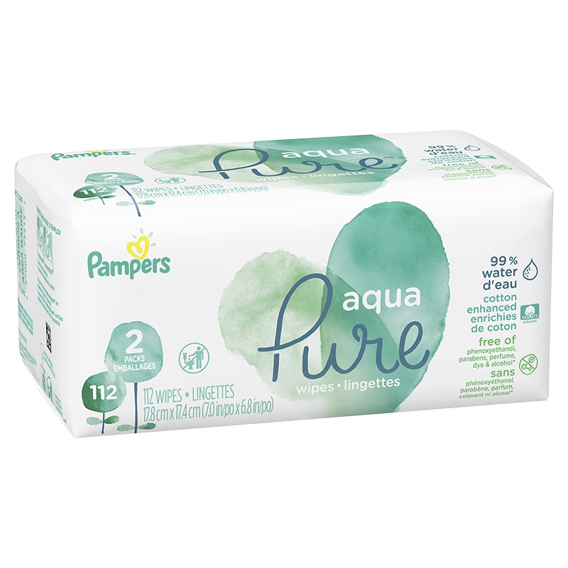 Pampers Aqua Pure Wipes - 112's