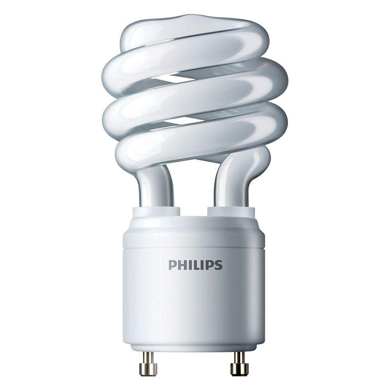 Philips CFL GU24 Light Bulb - 13w/60w