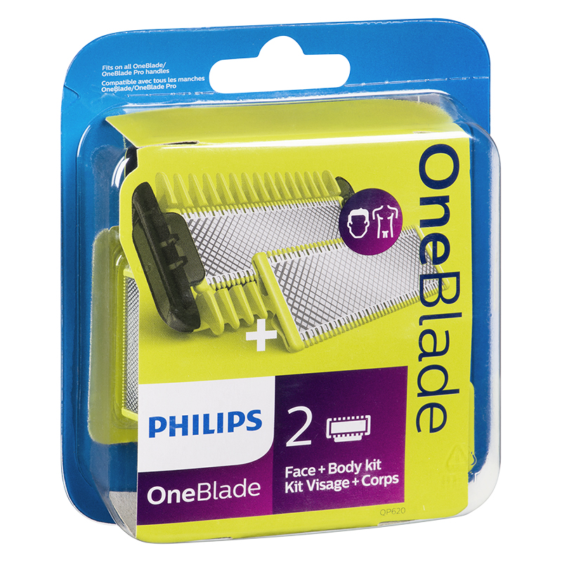 Philips OneBlade Face + Body Replacement Heads - 2s - QP620/50